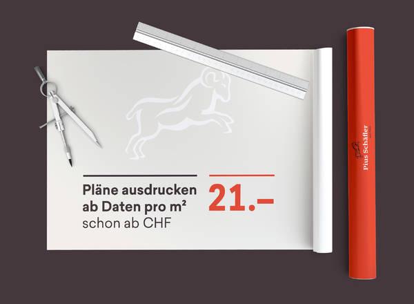 Pläne ausdrucken ab Daten pro m2 ab CHF 21