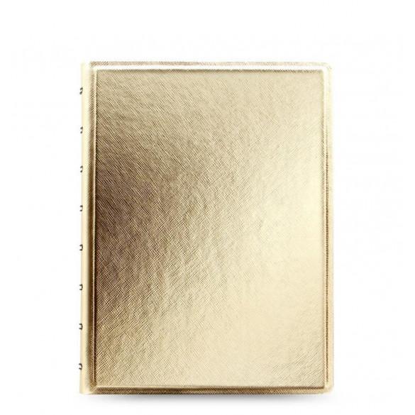 Notizbuch Saffiano A5 gold