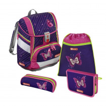Step by Step  2in1 Schulthek Set Shiny Butterfly 4 teilig Komplett