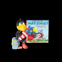 Hörfigur für die Toniebox: Der kleine Rabe Socke – Alle Schule! mit Booket
