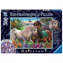 Puzzle Glitzerndes Pferdepaar