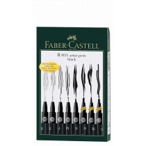 Faber-Castell Tuschestift PITT artist pen Fineliner schwarz 8 St./Pack.