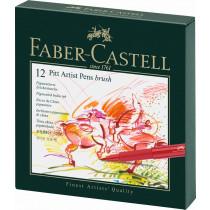 Faber-Castell Tuschestift PITT artist pen B Atelierbox 12 St./Pack.