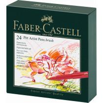 Faber-Castell Tuschestift PITT artist pen B Atelierbox 24 St./Pack.