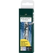 Faber-Castell Tuschestift PITT artist pen SB Grau/Blautöne 4 St./Pack.