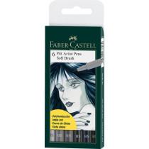 Faber-Castell Tuschestift PITT artist pen SB Grautöne 6 St./Pack.