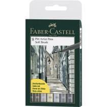 Faber-Castell Tuschestift PITT artist pen SB Grautöne 8 St./Pack.