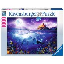 Puzzle Wale im Mondschein