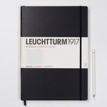 Leuchtturm1917 Notizbuch MASTER (DIN A4), schwarz, kariert