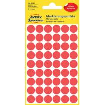 Avery Zweckform Markierungspunkt  rot  12 mm  270St