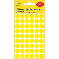 Avery Zweckform 3144 Markierungspunkte, Ø 12 mm, gelb