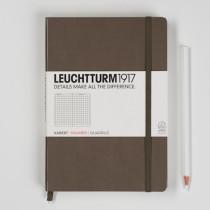 Leuchtturm1917 Notizbuch Medium (DIN A5) kariert, taupe