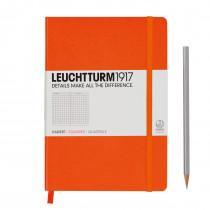 Leuchtturm1917 Notizbuch Medium (DIN A5) kariert, orange
