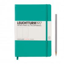Leuchtturm1917 Notizbuch Medium (DIN A5) smaragd, punktkariert