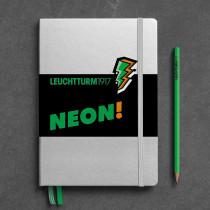 Notizbuch A5 neon grün