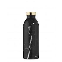 Trinkflasche schwarzer Marmor