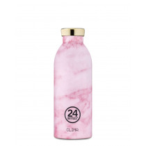 Trinkflasche pinker Marmor
