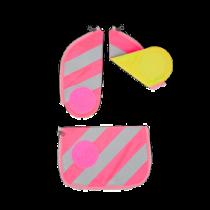 ergobag cubo Sicherheitsset mit Reflektierstreifen Pink