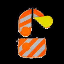 ergobag cubo Sicherheitsset mit Reflektierstreifen Orange
