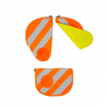 ergobag pack Sicherheitsset mit Reflektierstreifen Orange