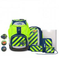 ergobag pack Schulrucksack Set 7tlg. IllumiBär Special Neo Edition