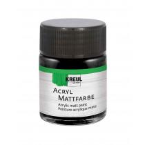 KREUL Acryl Mattfarbe Schwarz 50 ml