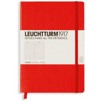Notizbuch Medium, Hardcover, kariert, rot