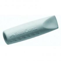 Faber-Castell Radierer ERASER CAP GRIP 2001, 10 x 10 x 40 mm (B x H x L), für: Blei- und Farbstifte, Synthetischer Kautschuk, grau/weiß, 2 St./Pack.