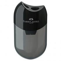 Faber-Castell Doppelspitzdose oval, für Stifte: 8 mm und 10 mm, Behälter: Kunststoff, schwarz