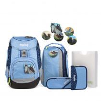 ergobag pack Schulrucksack Set HimmelreitBär 6tlg. Schulrucksack Komplettset