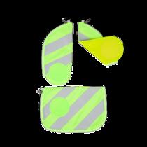 ergobag cubo Sicherheitsset mit Reflektierstreifen Grün