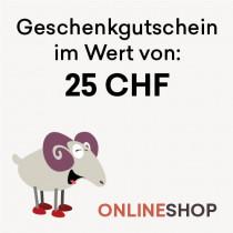 Geschenkgutschein 25 CHF