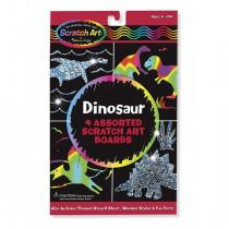 Scratch-Art-Blätter: Dinosaurier