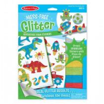 Glittersticker Dinosaurier