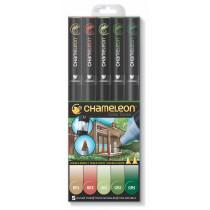 Chameleon Pen Natur Farben 5er-Set