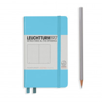 Leuchtturm1917 Notizbuch Pocket Hardcover A6 Ice Blue, punktkariert