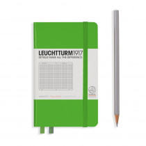 Leuchtturm1917 Notizbuch Pocket Hardcover A6 Fresh Green, kariert