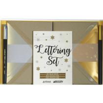 Lettering Set Greenline Desert Artoz inkl. 2 Stifte und Karten / Kuverts
