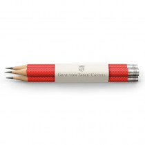 Graf von Faber-Castell 3 Taschenbleistifte in Guilloche India Red
