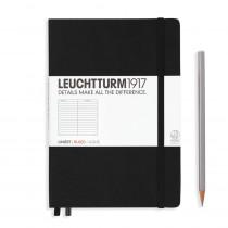 Leuchtturm1917 Notizbuch Medium Hardcover A5 schwarz, liniert