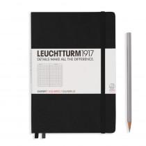 Leuchtturm1917 Notizbuch Medium Hardcover A5 schwarz, kariert
