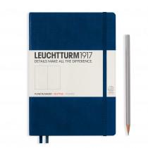 Leuchtturm1917 Notizbuch Medium Hardcover A5 punktkariert, marine