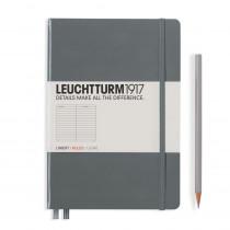 Leuchtturm1917 Notizbuch Medium Hardcover A5 anthrazit, liniert (Notizbuch)