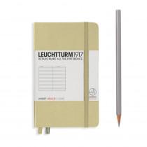 Leuchtturm1917 Notizbuch Pocket Hardcover A6 Sand, liniert