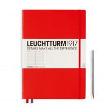 Leuchtturm1917 Notizbuch Master Hardcover A4 rot, liniert