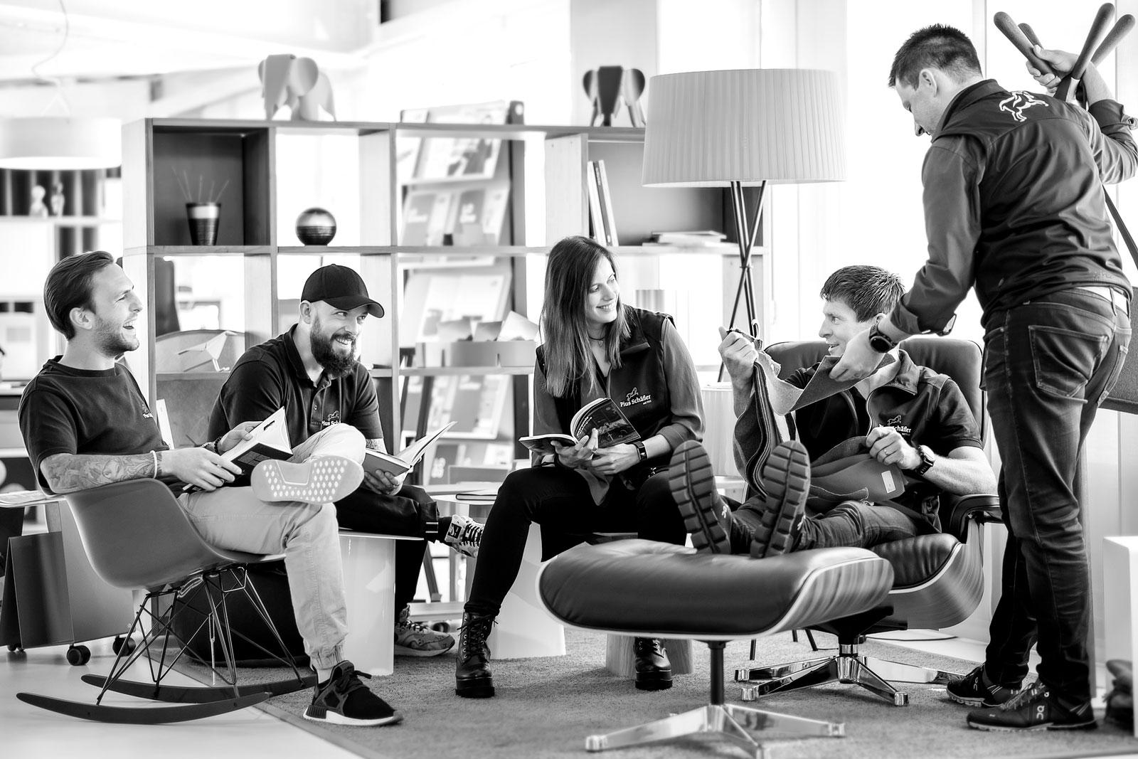 Teamfoto Onlineshop B2C Pius Schäfler AG